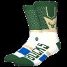 NBA Shortcut Milwaukee Bucks socks