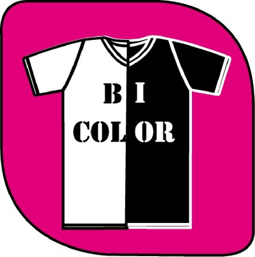 T-shirt bi color