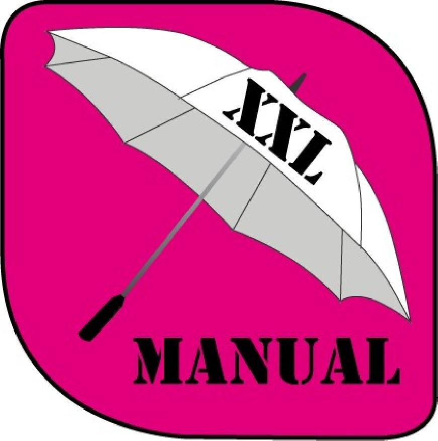 Parapluie manuel grand format